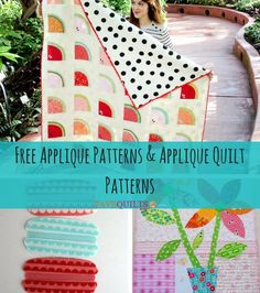 No matter what kind of project you want to learn how to applique, you are sure to find the how to applique info and instructions you are going to need! Learn how to applique when you check out all the free quilting patterns in How to Applique + 20 Fr Free Applique Patterns, Applique Tutorial, Hand Applique, Patchwork Patterns, Sewing Appliques, Machine Applique, Applique Quilts, Applique Designs, Quilting Patterns