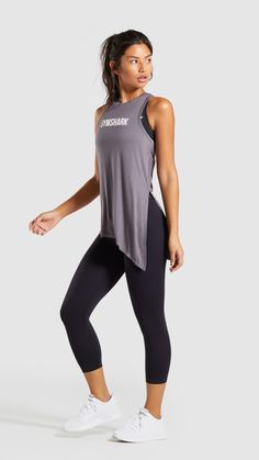 The Ark Oversized Vest. The perfect vest for covering up and staying comfy in the gym. Style it loose or tie it up to suit your look! Fitness Workout For Women, Love Fitness, Cute Outfits With Leggings, Cute Casual Outfits, Gym Wear For Women, Fit Women, Workout Wear, Workout Tops, Womens Workout Outfits