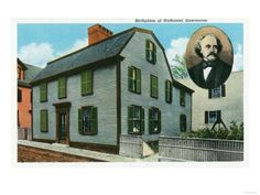 Salem, Massachusetts - Nathaniel Hawthorne's house Hawthorne House, Nathaniel Hawthorne, Massachusetts, Places Ive Been, Mansions, House Styles, Image, Manor Houses, Villas