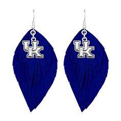 Kentucky Wildcats Twisted Rope Jewelry Combo Bracelet, Necklace, Dangle Earrings