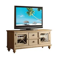 Coventry Media Console in Driftwood.