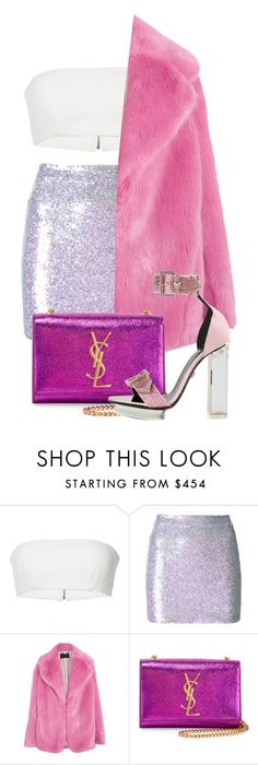 """""""Untitled #160"""" by be-marta ❤ liked on Polyvore featuring Ashish, J.Crew, Yves Saint Laurent and Versace"""