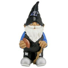 Panthers garden gnome~ $25 available online Gnome Garden, Lawn And Garden, Nfl Carolina Panthers, Nfl Shop, Tennessee Titans, Gnomes, Disney Characters, Fictional Characters, Pride