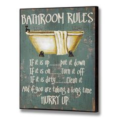 Craziest Collection of 50 #Funny Bathroom #Signs You've Ever Seen