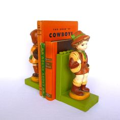 Repurposed HEIDI & PETER BOOKENDS by orangedoorcottage on Etsy