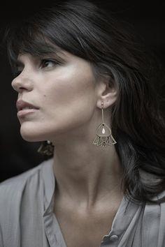 Brinco Leque Deco - Camila Sarpi