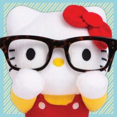 Hello Kitty eyeglasses holder is cutest ever!