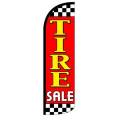 NeoPlex Tire Sale Vertical Flag Color: Red/Yellow