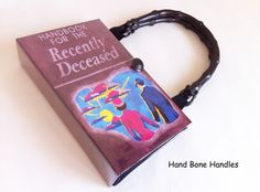 Handbook for the Recently Deceased Recycled Book Bag by NovelCreations || Etsy || £35