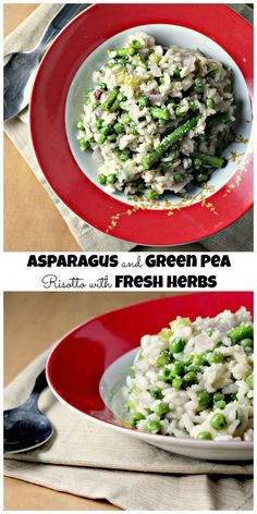 Asparagus and Green Pea Risotto with Fresh Herbs