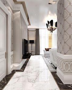 Luxury Home Decor, Luxury Interior, Home Interior Design, Luxury Homes, Luxury Furniture, Floor Design, Tile Design, House Design, Living Room Designs