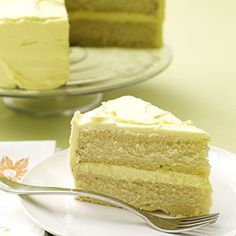 This layer cake gets its citrus flavor from fresh lemon peel and juice. Don't wait for a party to serve this luscious recipe.