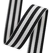 Black Grosgrain Stripes Ribbon