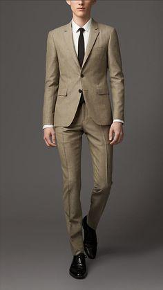 Burberry London Slim Fit Wool Mohair Suit