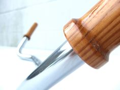Wood Bike Grips - Wooden Bicycle Grips - Douglas Fir. $30.00, via Etsy.