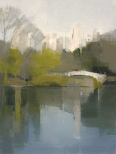 painting Central Park Lake 3