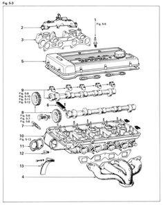Toyota 18RG Head Cutaway