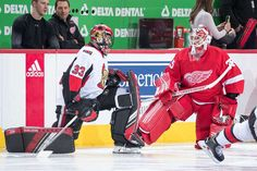 Photo galleries featuring the best action shots from NHL game action. Jimmy Howard, Nhl Games, Detroit Michigan, Detroit Red Wings, Ottawa, Benches, Hockey, December, Warm