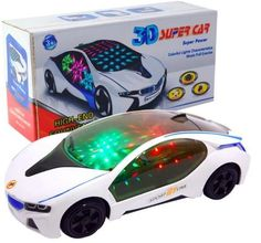 New 3D Flashing Electric Car toy with Lights, child gift car Models and Sound ,goes around and changes directions on contact - GKandAa