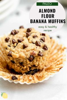 These almond flour muffins are the best healthy snack. They're moist from banana, naturally sweetened, gluten free, paleo and so easy to make. Whip up a fresh batch of almond flour banana muffins for a simple paleo and gluten free snack! #paleomuffins #almondflourmuffins #almondflourbananamuffins #glutenfreemuffins Gluten Free Recipes For Breakfast, Gluten Free Desserts, Dairy Free Recipes, Easy Healthy Recipes, Delicious Desserts, Snack Recipes, Snacks, Paleo Recipes, Baking Recipes