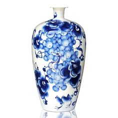 hand-painted grape underglaze vase
