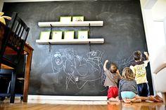 Tableau mural ardoise magnétique peinture tableau craie décoration