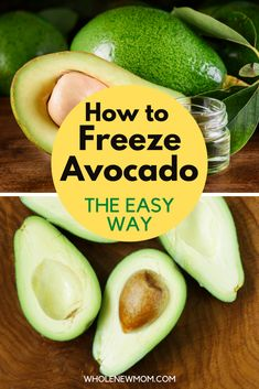 Can you Freeze Avocado? Sure you can! It is the best way to save avocado! We all know that prices for avocado vary so much according to the season. Here we show you have to save so much money by freezing avocado. Never throw away an overripe avocado again if you use these how to freeze an avocado tips. Avocados are expensive so you really can't waste them. Save so much money with these easy ways to freeze  avocado for guacamole, smoothies and more. Healthy Dips, Healthy Meal Prep, How To Make Taco, Food To Make, Can You Freeze Avocado, Cream Lemon, Avocado Dressing, Natural Health Tips, Guacamole Recipe