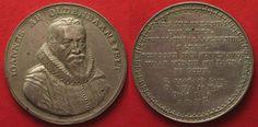 1619 Niederlande NETHERLANDS DEATH of J. v. OLDENBARNEVELT ND (1619) Medal silver UNC RARE# 89419 EF Coin Collecting, Personalized Items, Silver, Netherlands, Money