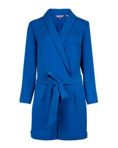 Ted Baker's playsuit. Buy now: http://fashflick.com/ted-bakers-playsuit-is-fashion-frivolity-at-its-best/  #coat #blue #tedbaker #fashflick