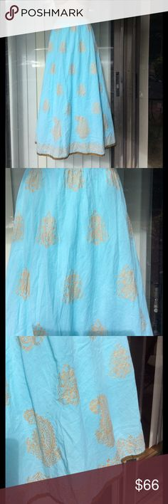 Soft surroundings cotton maxi skirt nwot Newer worn,lined,labeled xs but fit S too,run big soft surroundings Skirts Maxi
