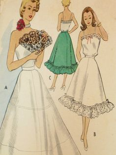 Petticoat and Camisole Vintage Lingerie McCall's by EmSewCrazy, $24.00