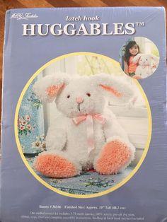 "Huggables Bunny Latch Hook Kit 19"" Tall #36106 by MCG Textiles NEW #MCGTextiles"
