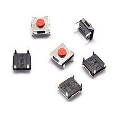 R242-01 6*6*3.1 MM tacto táctil interruptor de botón rojo vertical de 4 pies cabeza de cobre a prueba de agua