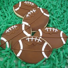 Cookie Cutter Football Copper $16.50 http://www.fancyflours.com/product/Cookie-Cutter-Football-Copper/sports-party-theme