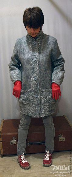 Верхняя одежда ручной работы. Пальто войлок
