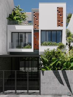 K house exterior Narrow House Designs, Modern Exterior House Designs, Cool House Designs, Exterior Design, Industrial Home Design, Industrial House, House Front Design, Small House Design, Facade Design