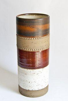 $59 Vintage 1970s Denby Potters Wheel Studio Vase, David Yorath