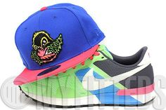 Eugene Emeralds Royal Blue Fuchsia Pink Green Yellow Jet Black New Era Fitted Hat