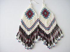 Handmade Beadwork Earrings  Native American by joymakersdesigns
