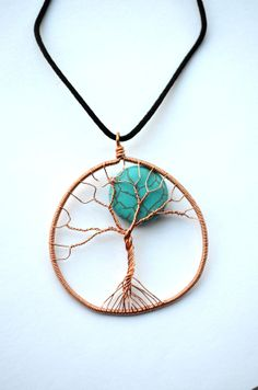 Tree Of Life Necklace With Moon by SpearCraft on Etsy, $13.00