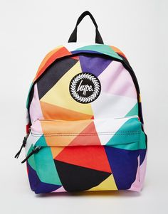 Image 1 of Hype Geometric Multi-Coloured Backpack