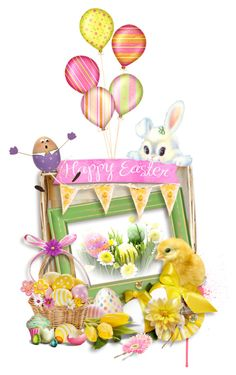 """HAVE A HAPPY EASTER !!!!"" by shortyluv718 ❤ liked on Polyvore featuring Iscream"