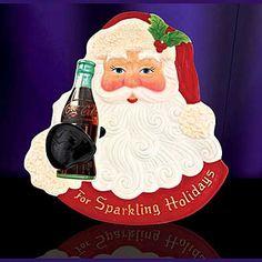 Christopher Radko Coca-Cola Santa Snack Plate 9 inch