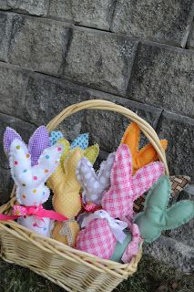 The Little Fabric Blog: A Basket of Bunnies