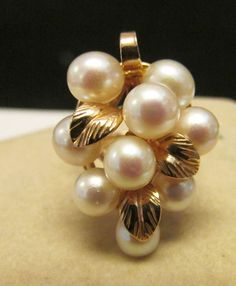 Vintage Estate Ming's of Honolulu 14K 9 High Luster Pink Pearl Ring by Alohamemorabilia