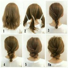 simple hairstyle diy...