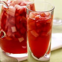 A lady in my WeightWatchers meeting sang this sangria recipe's praises. Gotta remember to try it out - maybe with white wine though, and peaches and persimmon with apples for a flair of fall.