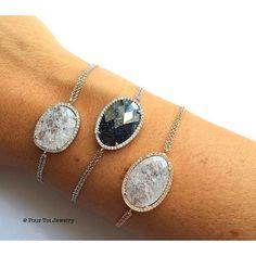 NEW IN - beautifully sparkling bracelets! Get them now!  #pourtoijewelry#finejewelry#bracelets#rosegold#silver#armcandy#vienna#fashion#fashionista#igersvienna#dawanda