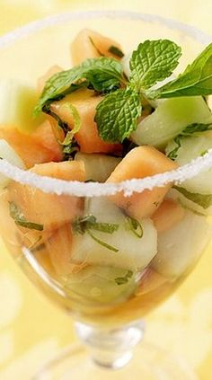 Weight Watchers Mojito Style Melon Salad ~ 3 Points+