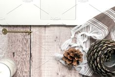 Autumn Office ~ Laptop by Tide & Tree on @creativemarket